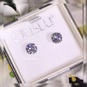 Diamond Studs in Platinum 5A CZ Stones
